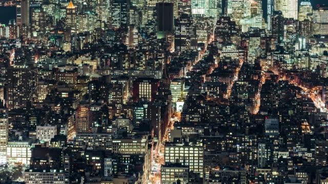 Tl Ha Grid Apartment At Night Manhattan Nyc Stock Footage Video