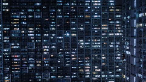 t/l ha zo grid apartment / peking, china - architektur stock-videos und b-roll-filmmaterial