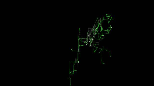 グリッド ネットワーク - ゼンタングル模様点の映像素材/bロール