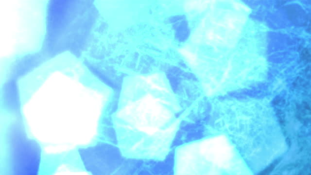 grid of blue particles flowing in and out of each other. - other stock videos and b-roll footage