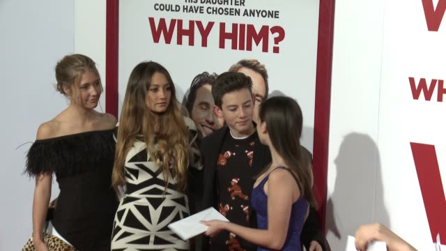 Griffin Gluck and friends at the Why Him World Premiere at Regency Bruin Theater on December 17 2016 in Westwood California