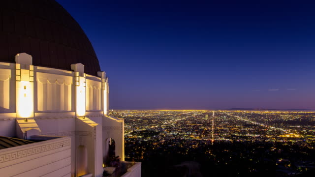 Griffith Park Observatory, Los Angeles - Dusk to Night Time Lapse
