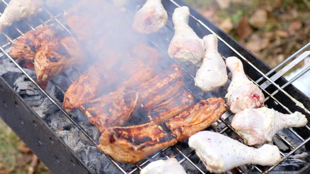 grill - grigliare video stock e b–roll