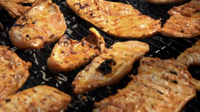 grilled chicken breast - marinated stock videos & royalty-free footage