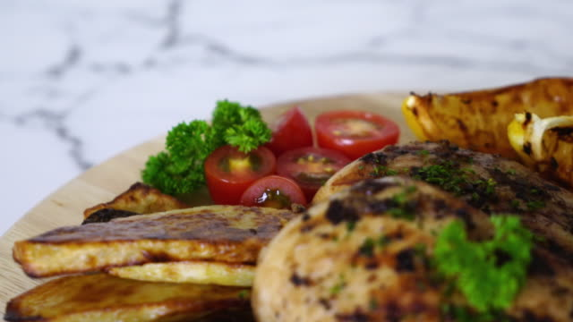grilled chicken fillet steak