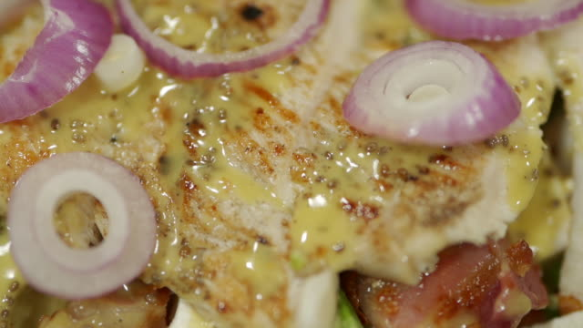 grilled chicken salad - feta stock videos & royalty-free footage
