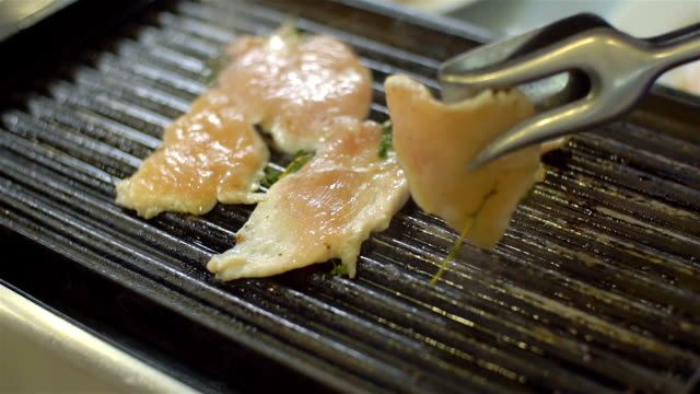 grilled chicken, slo mo - grilled chicken stock videos and b-roll footage