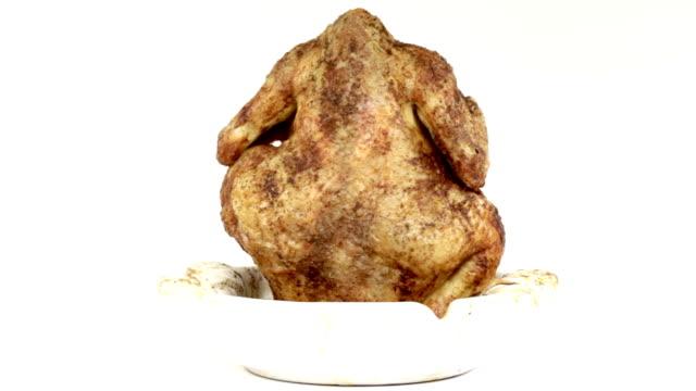 pollo ai ferri - pollo alla brace video stock e b–roll