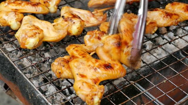 grilled chicken - roast chicken stock videos & royalty-free footage