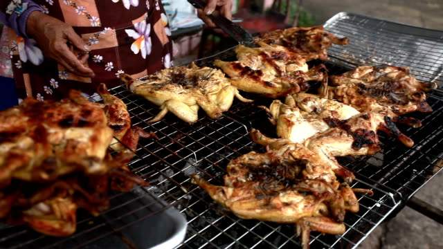 grilled chicken - grilled chicken stock videos and b-roll footage