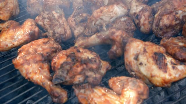 grilled chicken - marinated stock videos & royalty-free footage