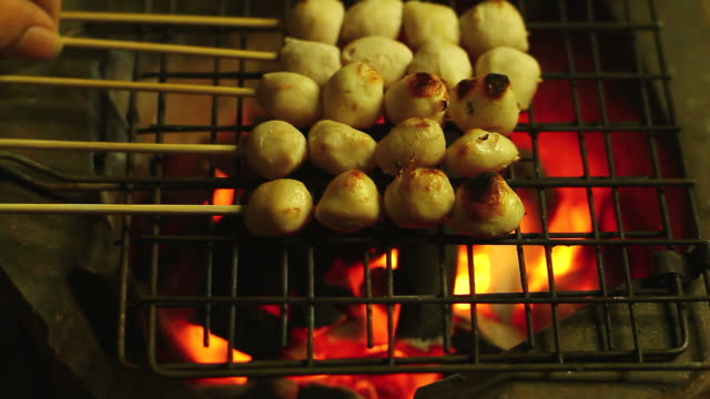Grilled meat ball