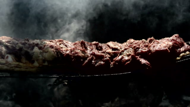 Grilled piece of beef barbecue
