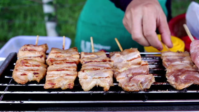 grilled pork, thai food
