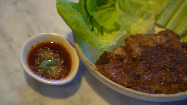 Grilled Pork with Spicy Condiment