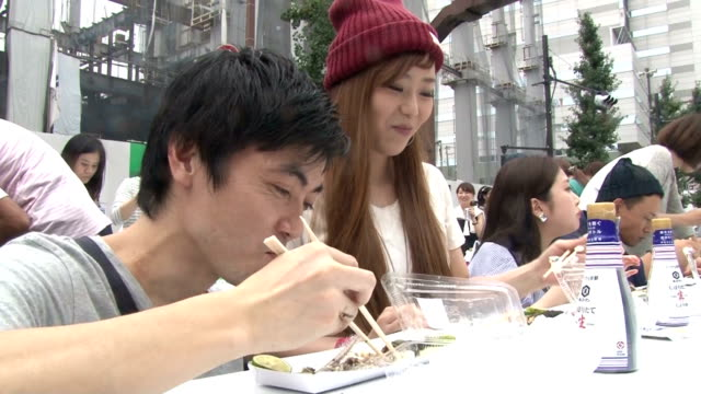 Grilled saury called sanma in Japanese is requisite in Japan's dinner table in the fall and on Sunday September 6 Tokyo's Meguro Ward sponsored an...