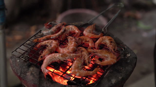 grilled shrimp - crustacean stock videos & royalty-free footage