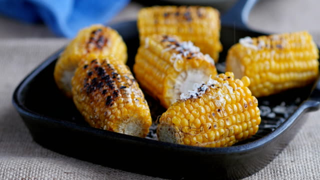 grilled sweet corn with parmesan cheese