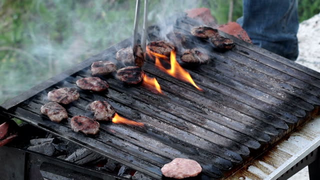 HD: Grilling at barbecue