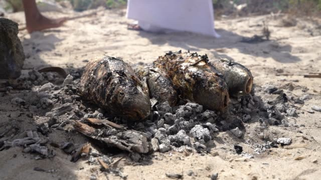 ms grilling fish - oman stock videos & royalty-free footage
