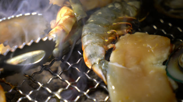 Grilling seafood