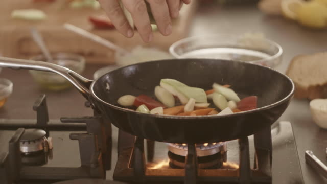 grilling vegetables - hob stock videos & royalty-free footage