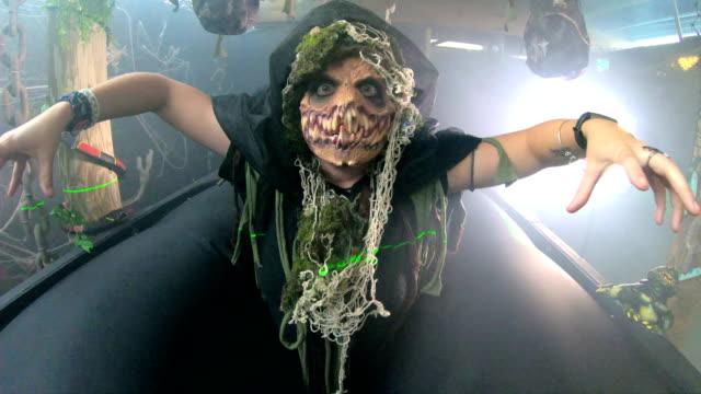 Grim reaper in halloween haunted house