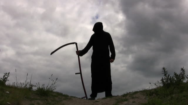 grim reaper - scythe stock videos and b-roll footage