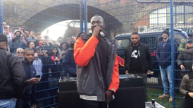grime mc stormzy thrilled fans with a surprise performance on the same day he released his debut album the star performed two songs big for your... - stormzy stock videos and b-roll footage