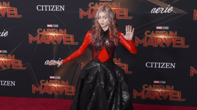 Grimes at the 'Captain Marvel' World Premiere