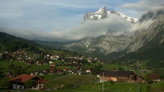 Grindelwald and Wetterhorn, Bernese Alps, Switzerland, Europe
