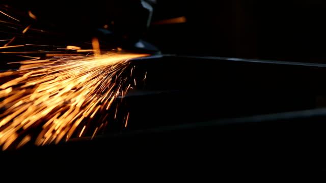 grinder on metal - welding torch stock videos & royalty-free footage