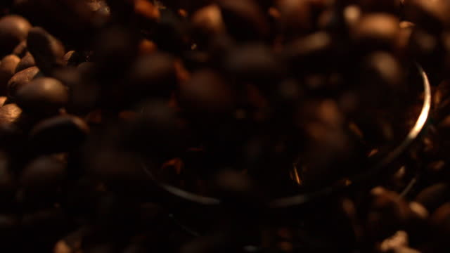 Grinding Beans of Coffee