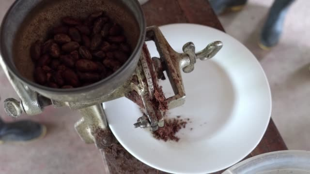 grinding cocoa beans - grinding stock videos & royalty-free footage
