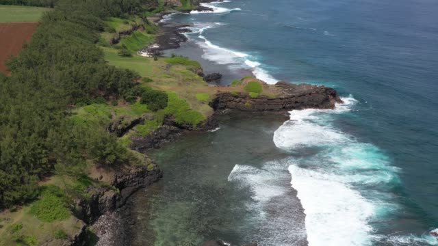 gris gris beach in mauritius - gris stock videos & royalty-free footage