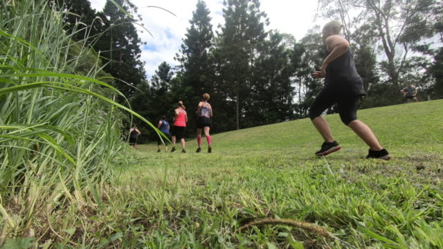 Gritty Women exercising outdoor bootcamp Australia Running