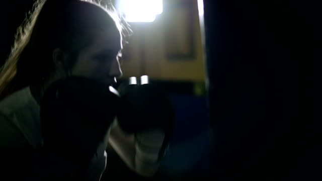 gritty women - kickboxing stock videos and b-roll footage
