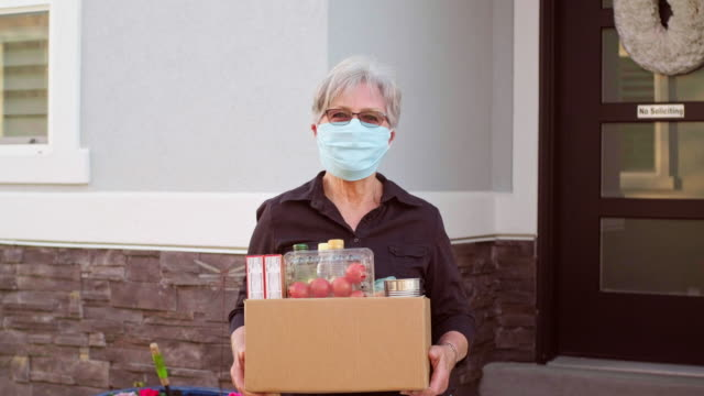 grocery delivery person - meal box stock videos & royalty-free footage