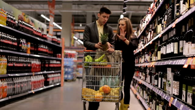 grocery shopping in two - wallet stock videos & royalty-free footage