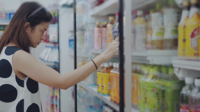 grocery shopping - dairy product stock videos & royalty-free footage