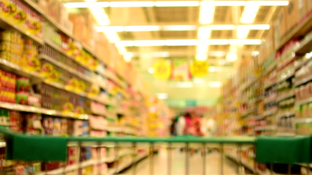 grocery shopping - shelf stock videos and b-roll footage
