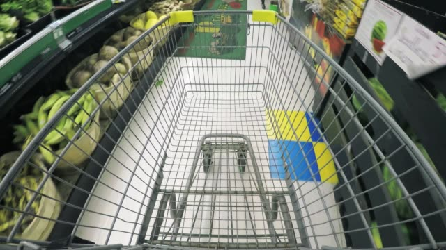 grocery shopping - pov - trolley stock videos and b-roll footage