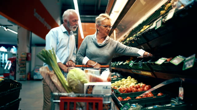 grocery shopping - senior adult stock videos & royalty-free footage