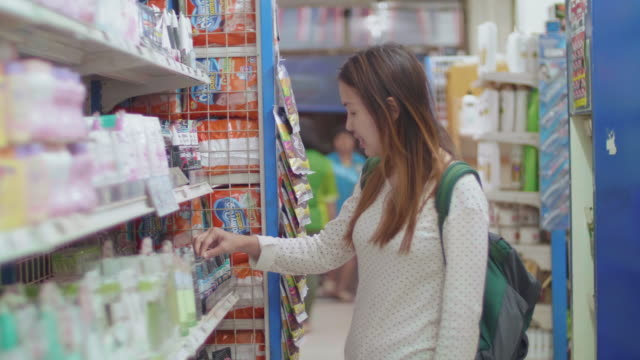 grocery shopping - label stock videos and b-roll footage