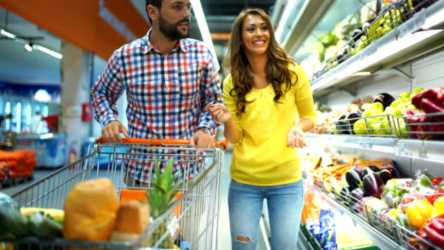 grocery shopping - choosing stock videos & royalty-free footage