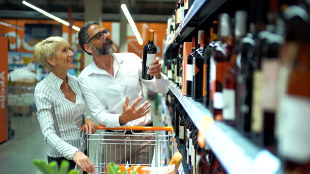 grocery shopping - choosing stock videos and b-roll footage