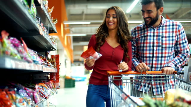 grocery shopping - confectionery stock videos & royalty-free footage