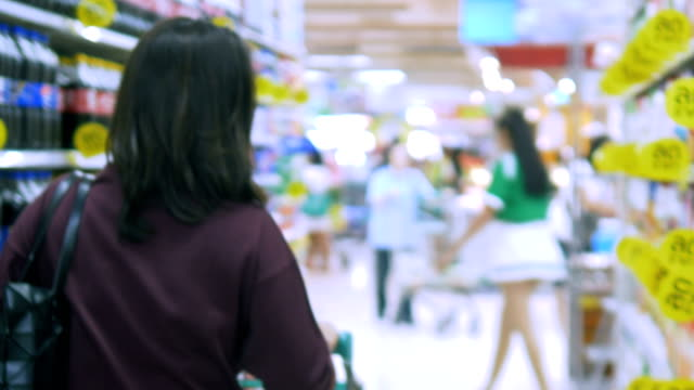 grocery store : customer choosing , retail - trolley stock videos and b-roll footage
