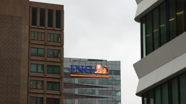 ING Groep NV Acanthus headquarter building complex as the offices of Deutsche Bank AG stand left in Amsterdam Netherlands on Monday Jan 29...