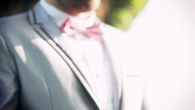 Groom in the wedding suit. Wedding theme.